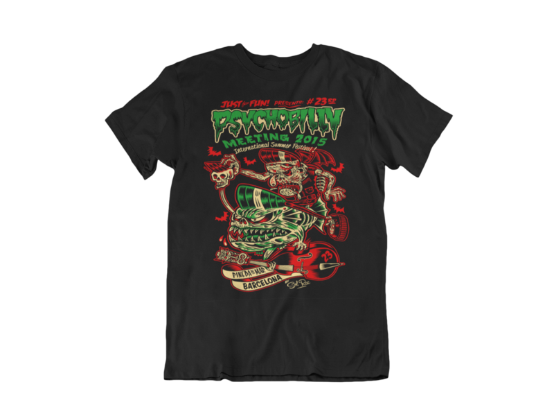 PSYCHOBILLY MEETING 2015 T-SHIRT MEN by SOLRAC