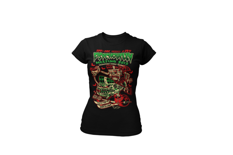 PSYCHOBILLY MEETING 2015 T-SHIRT WOMEN by SOLRAC