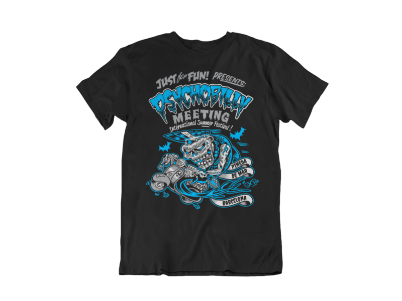 PSYCHOBILLY MEETING 2016 T-SHIRT MAN BY SOLRAC