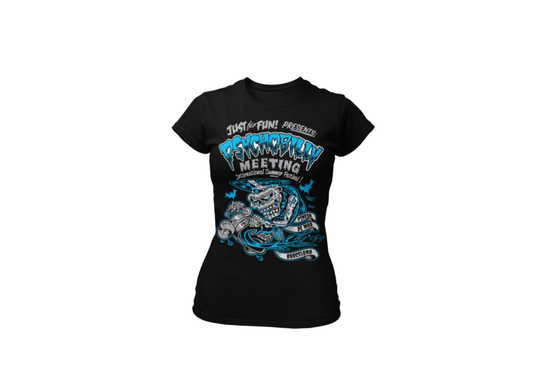 PSYCHOBILLY MEETING 2016 T-SHIRT WOMAN BY SOLRAC