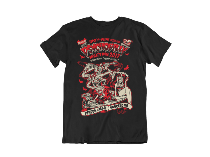 PSYCHOBILLY MEETING 2017 T-SHIRT MEN by SOLRAC
