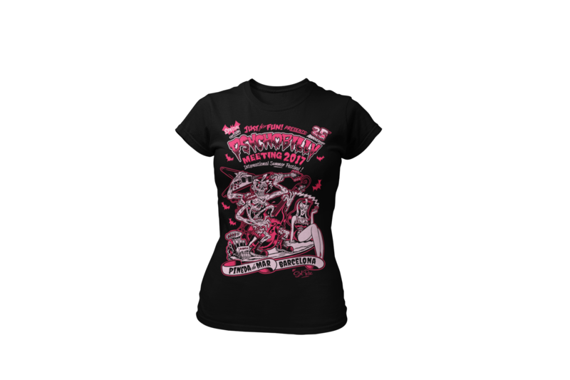 PSYCHOBILLY MEETING 2017 T-SHIRT WOMEN by SOLRAC