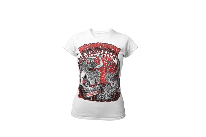 PSYCHOBILLY MEETING 2018 T-SHIRT WOMEN BY OLAFH