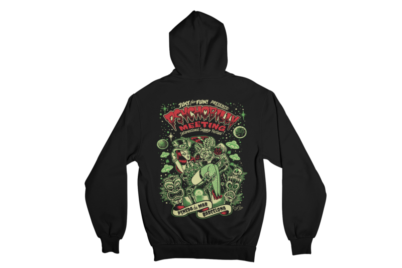 PSYCHOBILLY MEETING 2019 Hoodie ZIP by SOLRAC MEN
