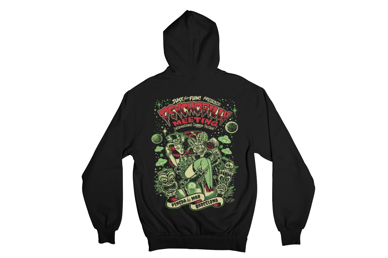 PSYCHOBILLY MEETING 2019 Hoodie ZIP by SOLRAC WOMAN