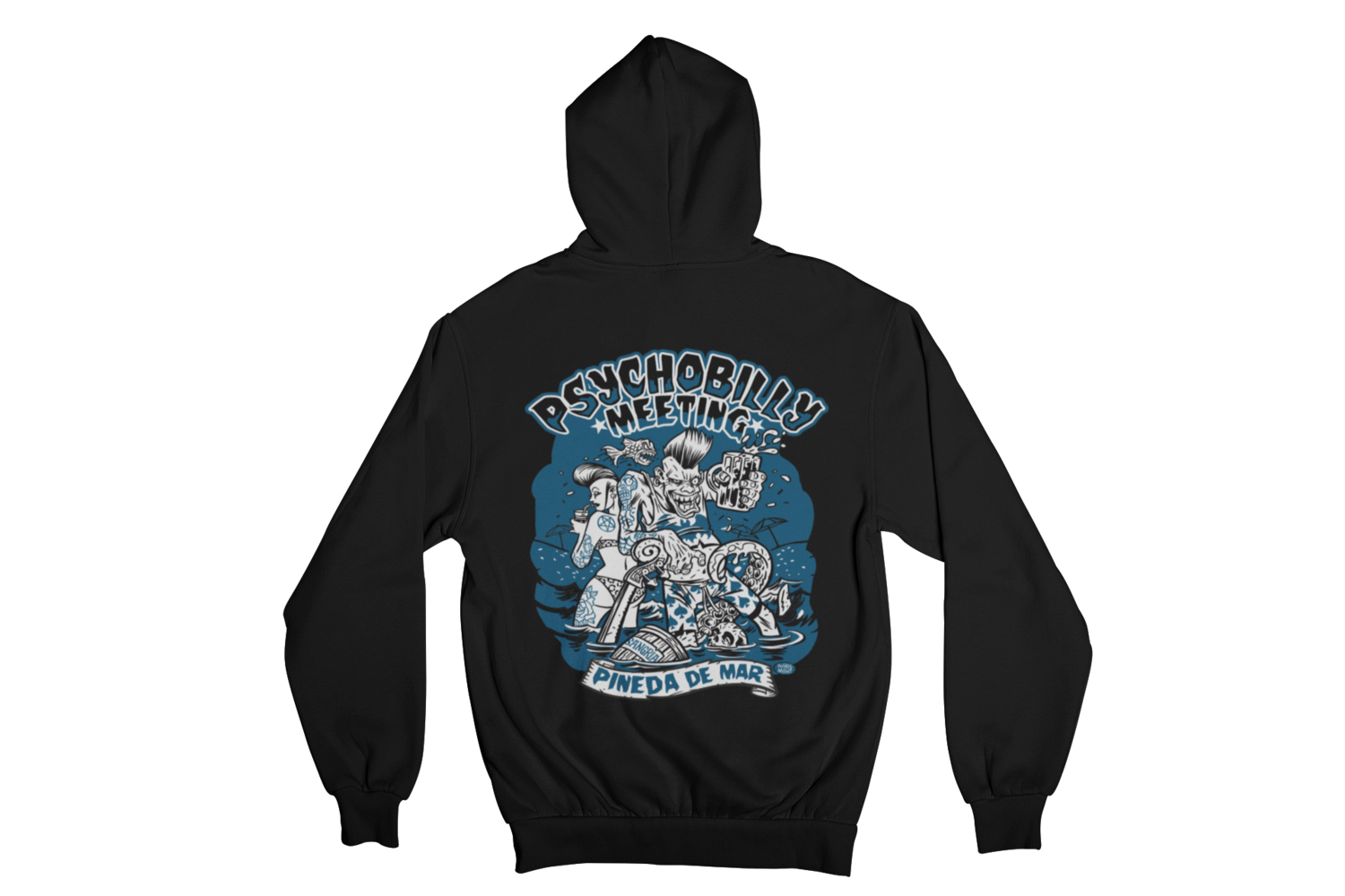 PSYCHOBILLY MEETING 2019 Hoodie ZIP by PASKAL MEN