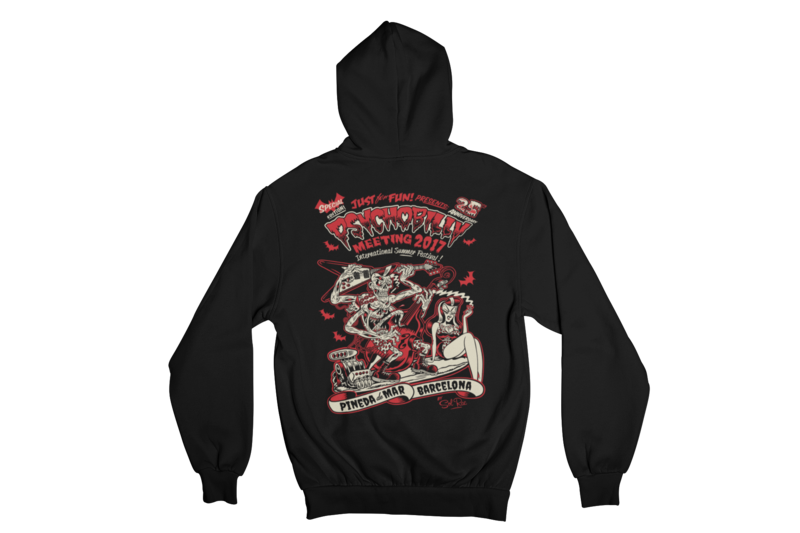 PSYCHOBILLY MEETING 2017 Hoodie ZIP by SOLRAC MEN