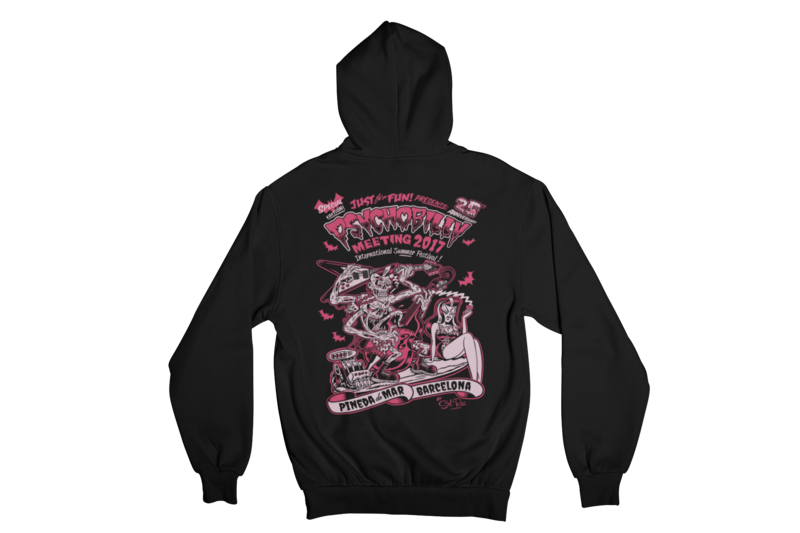 PSYCHOBILLY MEETING 2017 Hoodie ZIP by SOLRAC WOMAN