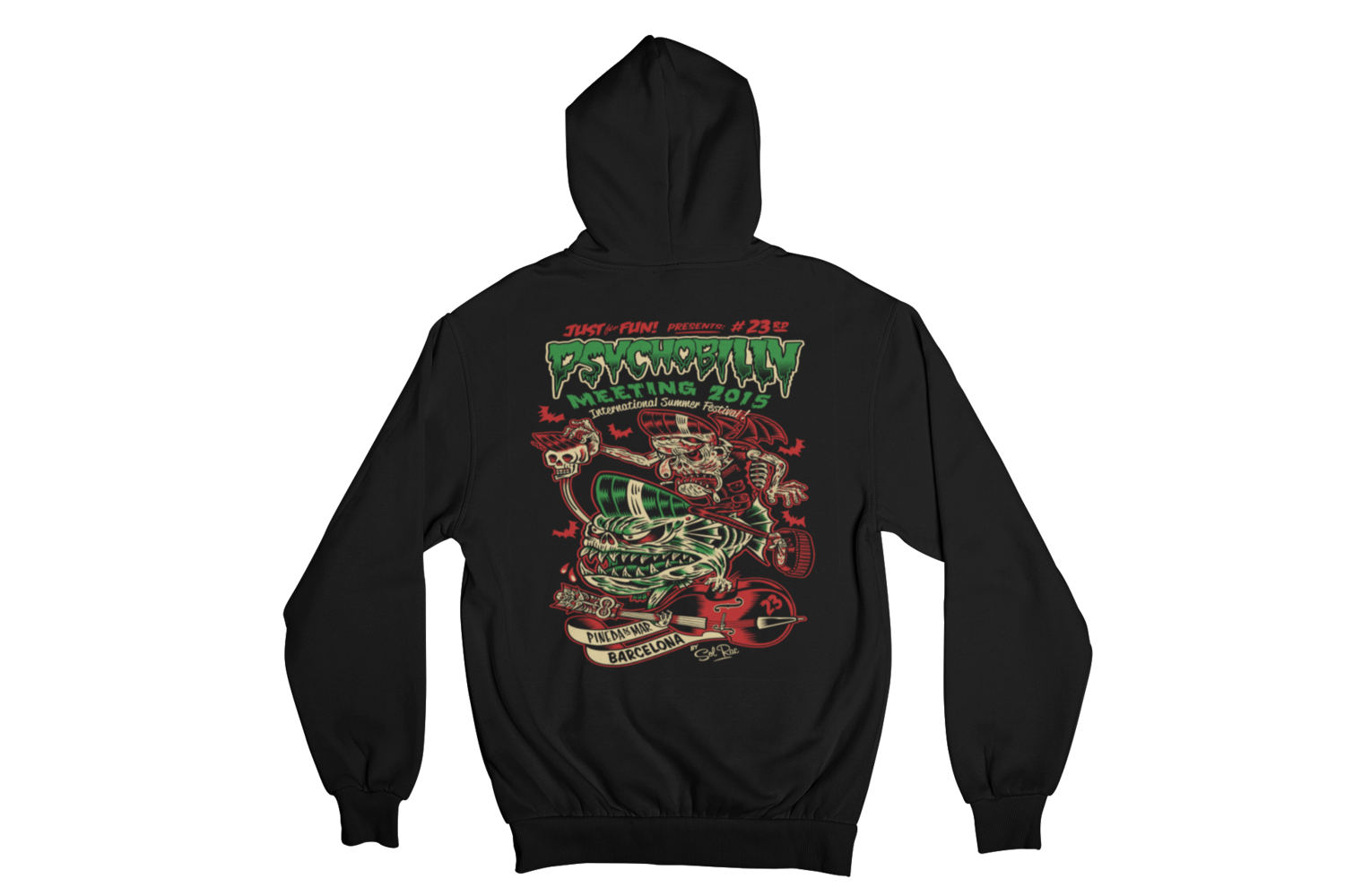 PSYCHOBILLY MEETING 2015 Hoodie ZIP by SOLRAC MEN