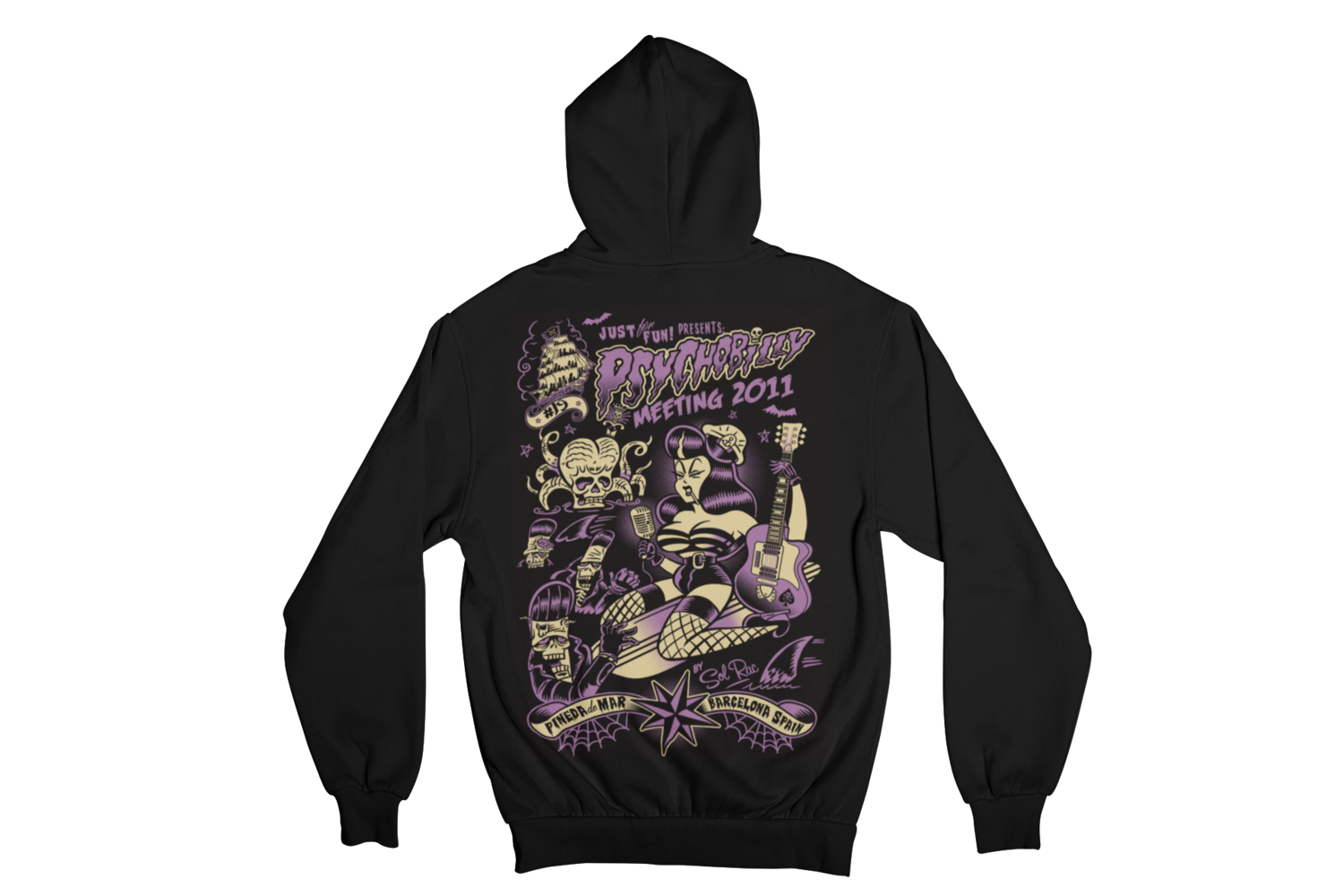 PSYCHOBILLY MEETING 2011 Hoodie ZIP by SOLRAC MEN