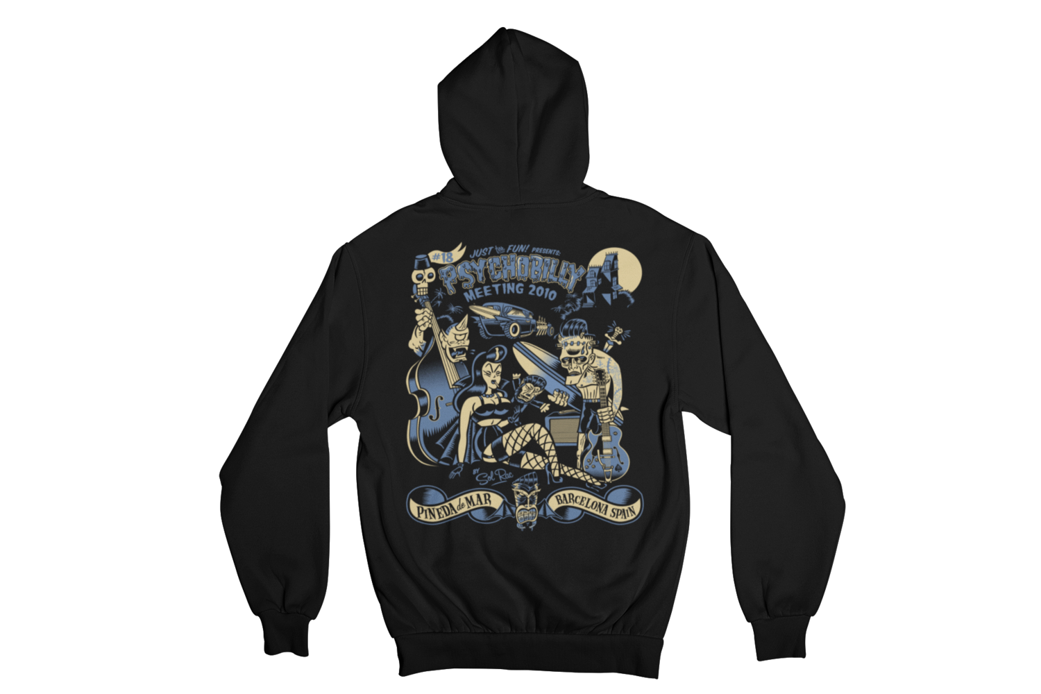 PSYCHOBILLY MEETING 2010 Hoodie ZIP by SOLRAC WOMAN