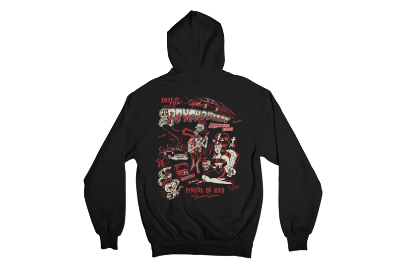 PSYCHOBILLY MEETING 2009 Hoodie ZIP by SOLRAC WOMAN