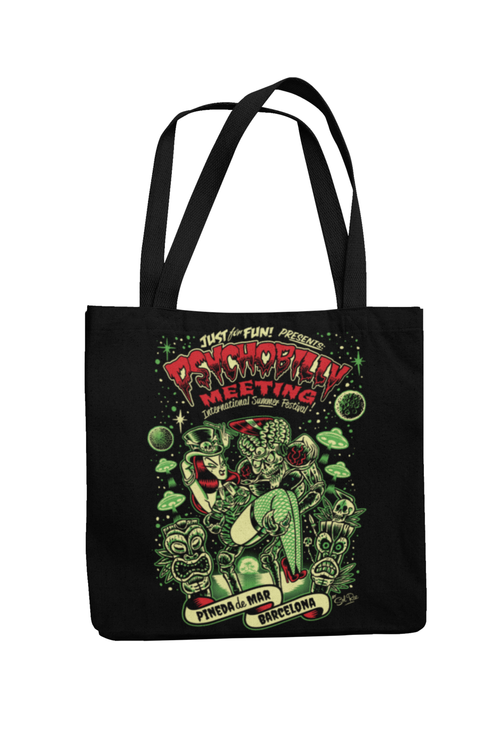 Cotton Bag Psychobilly meeting design by Solrac 2019