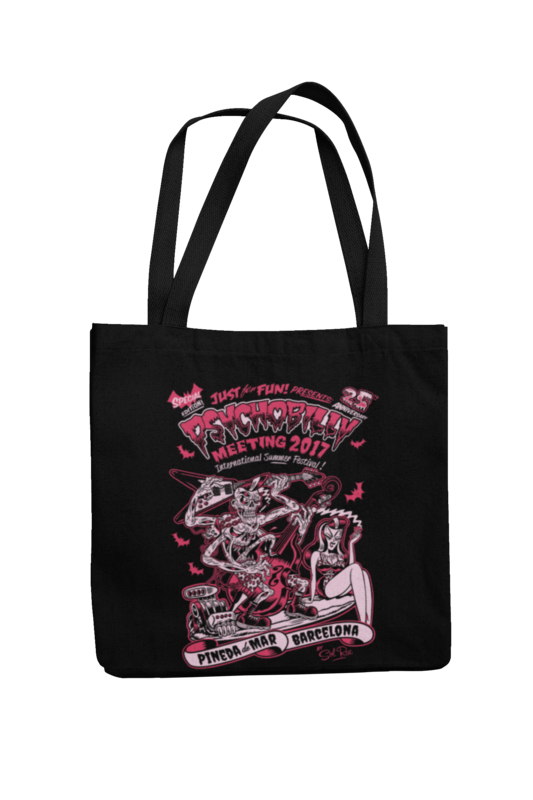 Cotton Bag Psychobilly meeting design by Solrac 2017