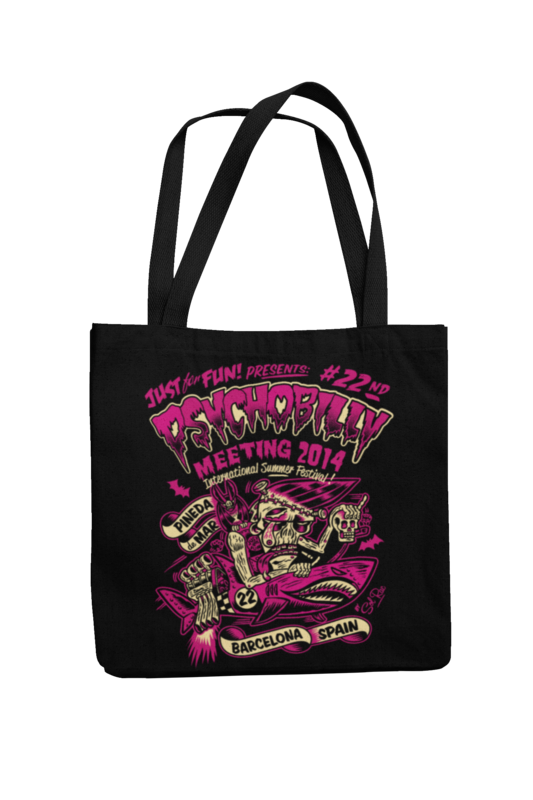 Cotton Bag Psychobilly meeting design by Solrac 2014