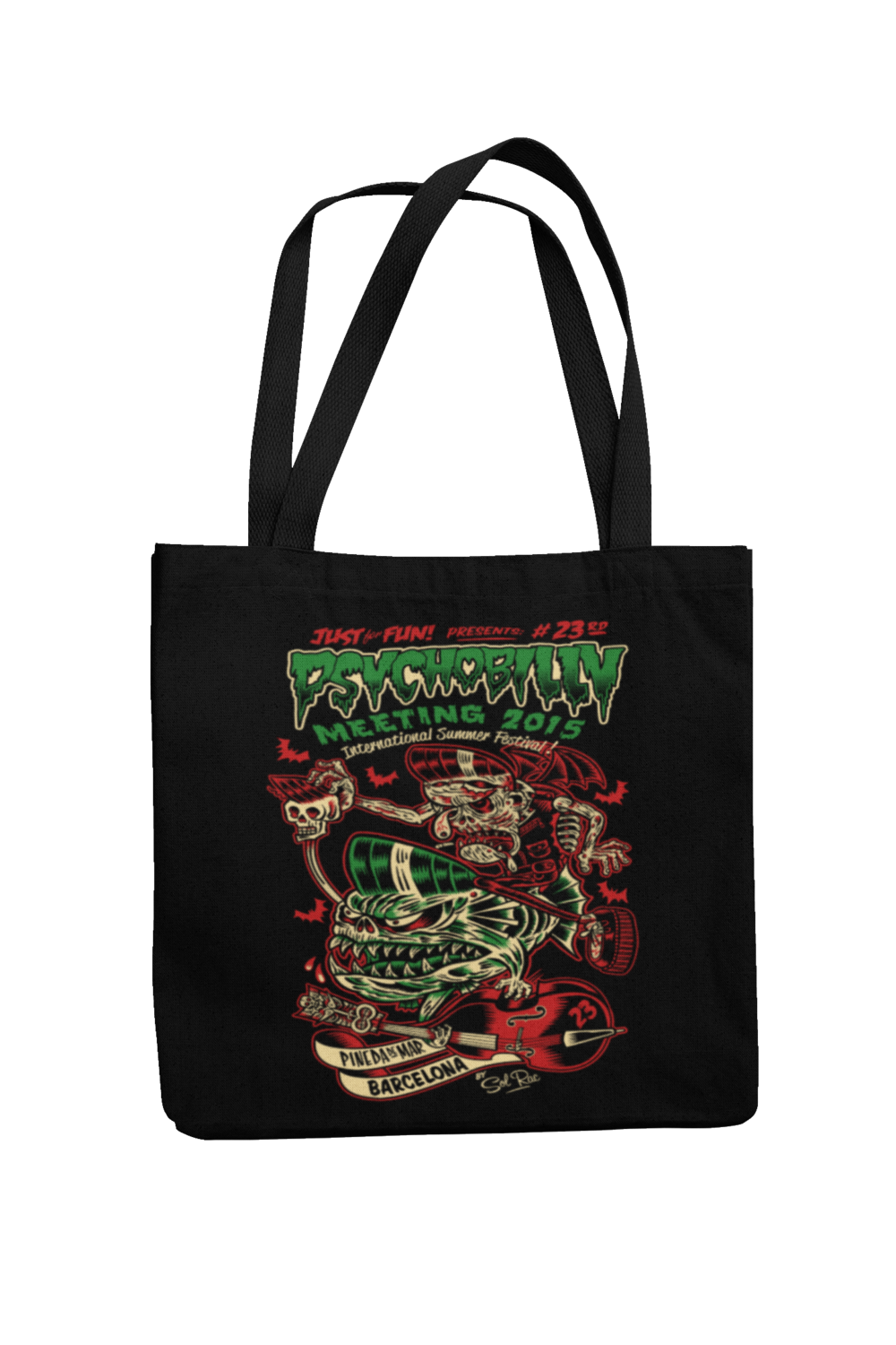 Cotton Bag Psychobilly meeting design by Solrac 2015