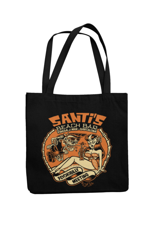 Cotton Bag Santi´s beach bar design by Solrac 2017