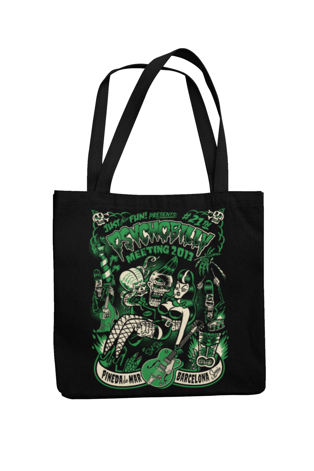 Cotton Bag Psychobilly meeting design by Solrac 2013