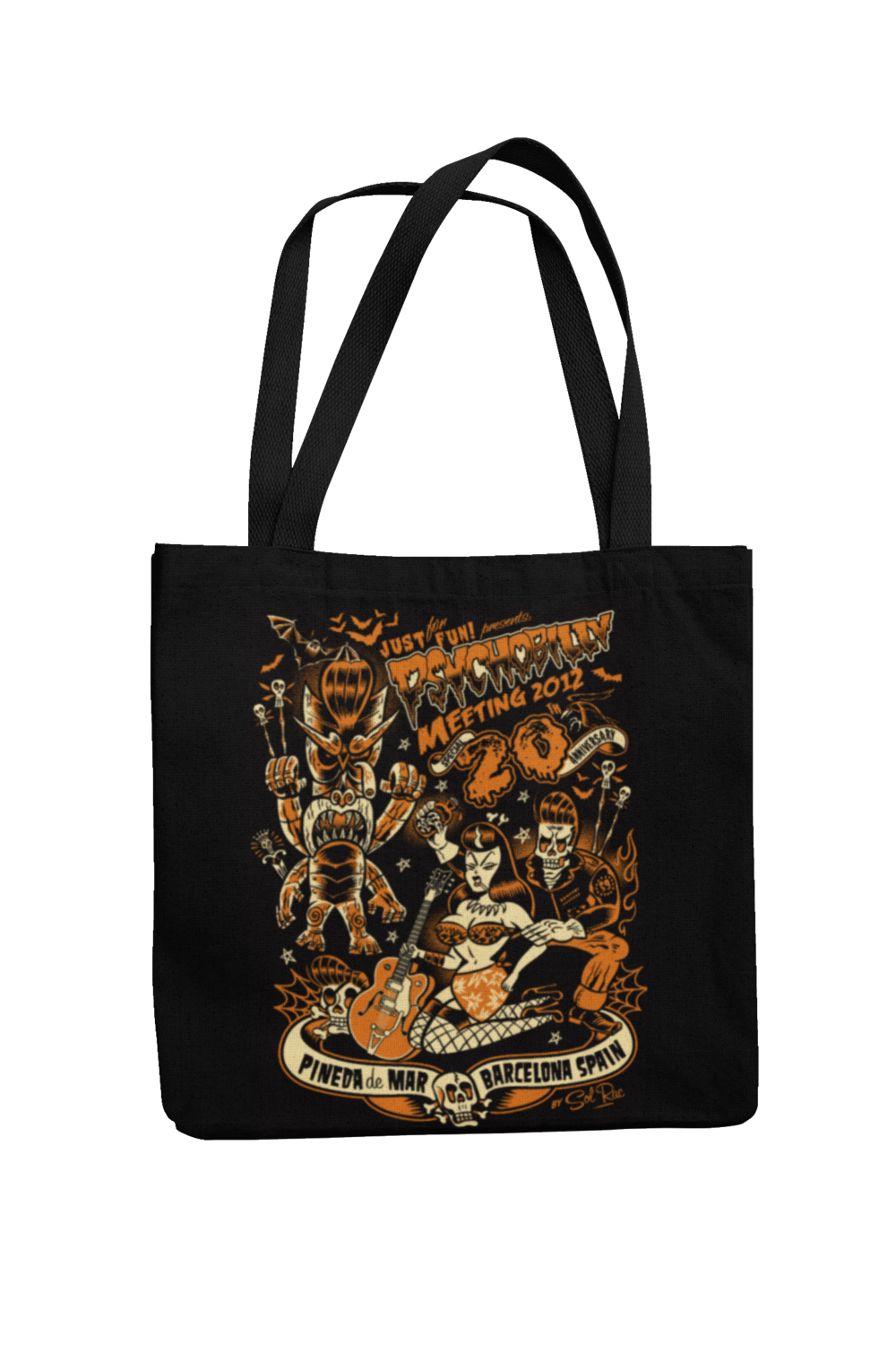 Cotton Bag Psychobilly meeting design by Solrac 2012