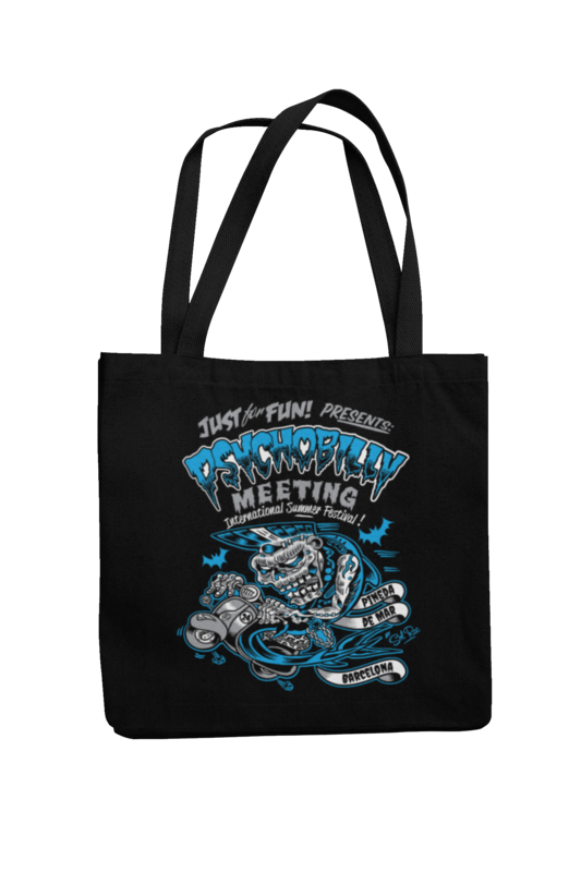 Cotton Bag Psychobilly meeting design by Solrac 2016