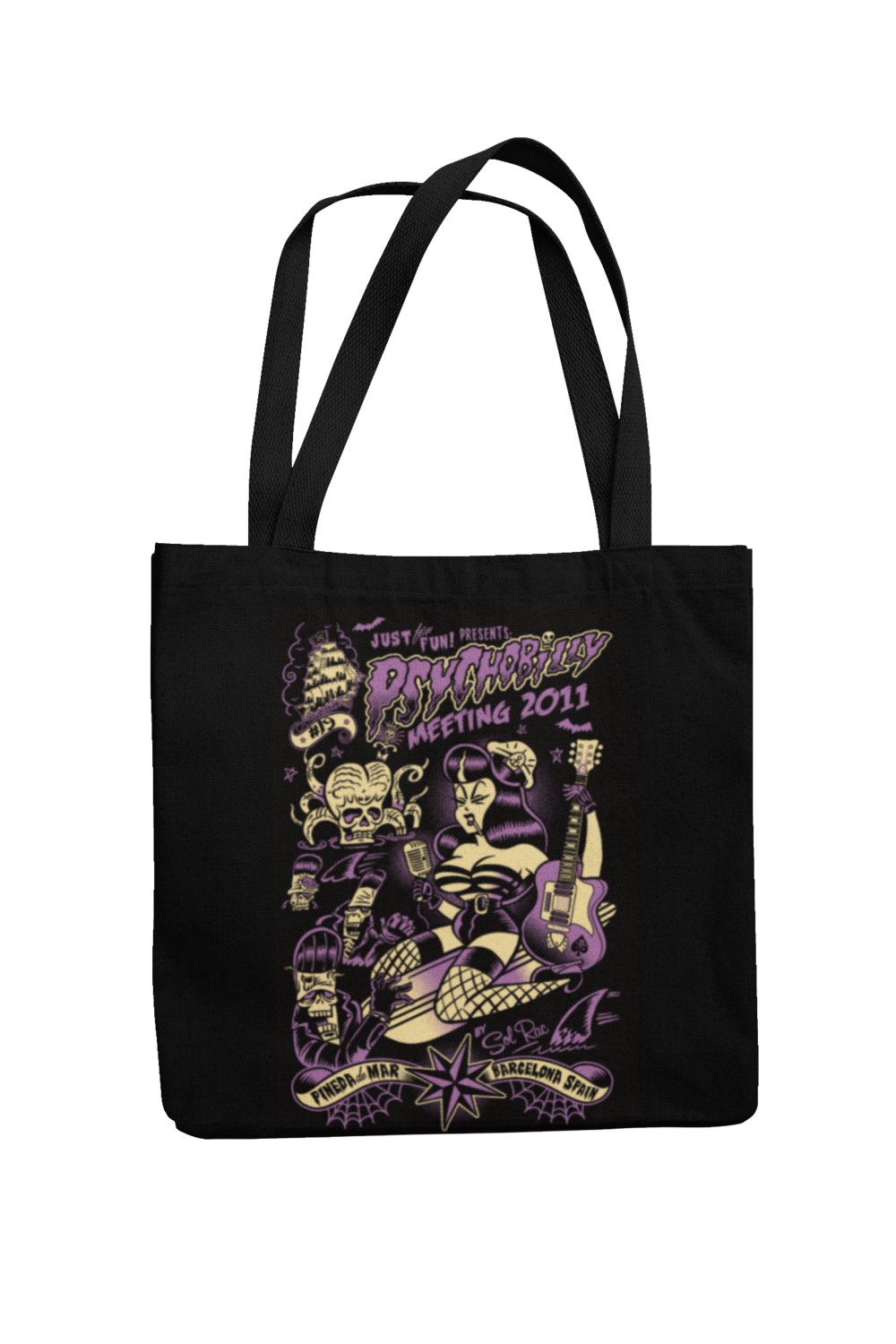 Cotton Bag Psychobilly meeting design by Solrac 2011