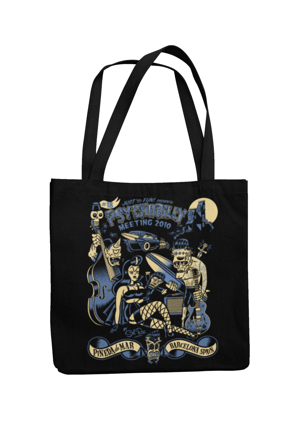Cotton Bag Psychobilly meeting design by Solrac 2010