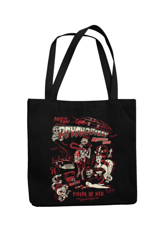 Cotton Bag Psychobilly meeting design by Solrac 2009