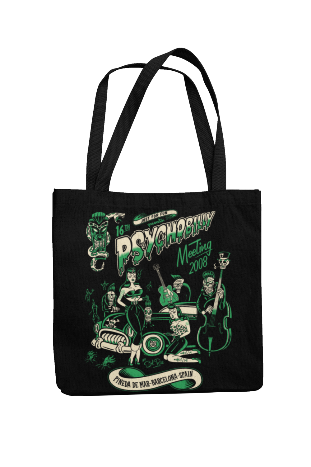 Cotton Bag Psychobilly meeting design by Solrac 2008