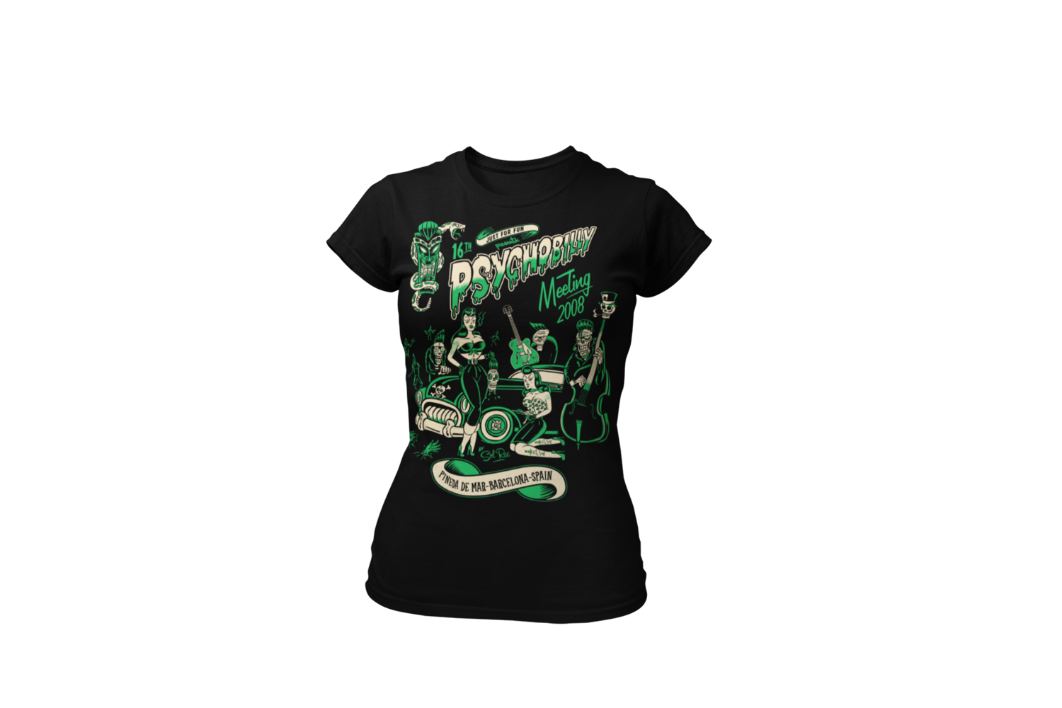 PSYCHOBILLY MEETING 2008 T-SHIRT WOMEN by SOLRAC