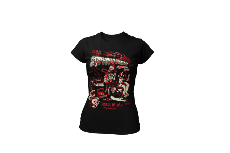 PSYCHOBILLY MEETING 2009 T-SHIRT WOMEN by SOLRAC