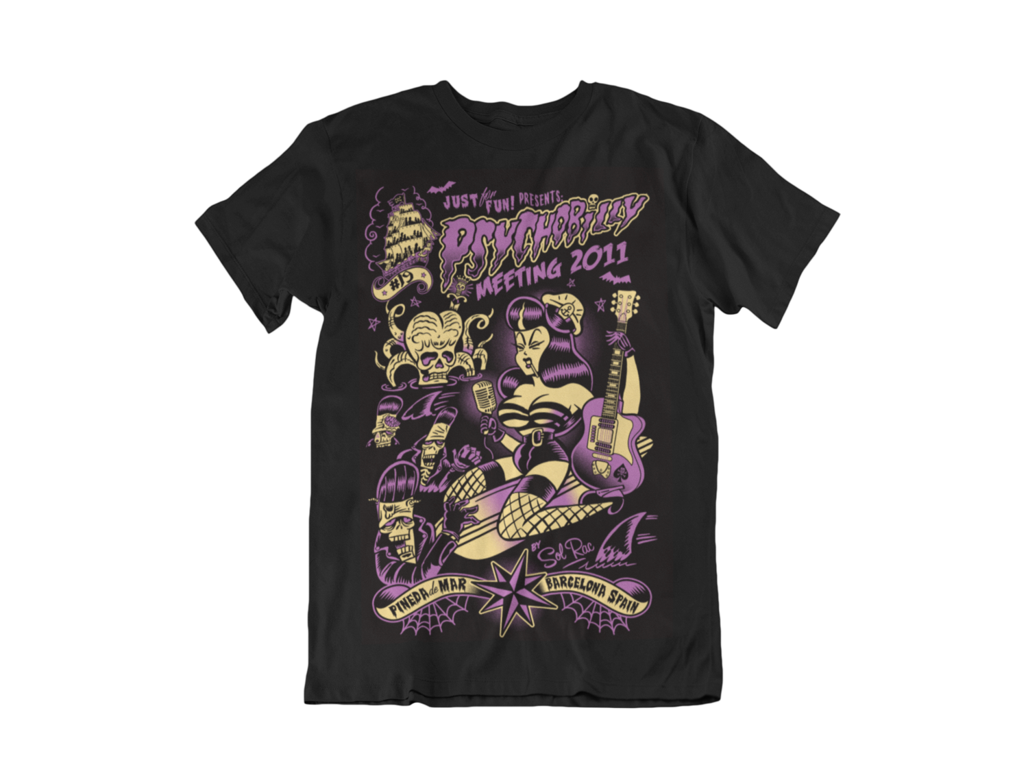 PSYCHOBILLY MEETING 2011 T-SHIRT MEN by SOLRAC