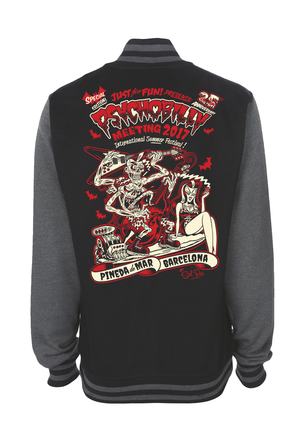 VARSITY PSYCHOBILLY MEETING 2017 UNISEX BY SOLRAC