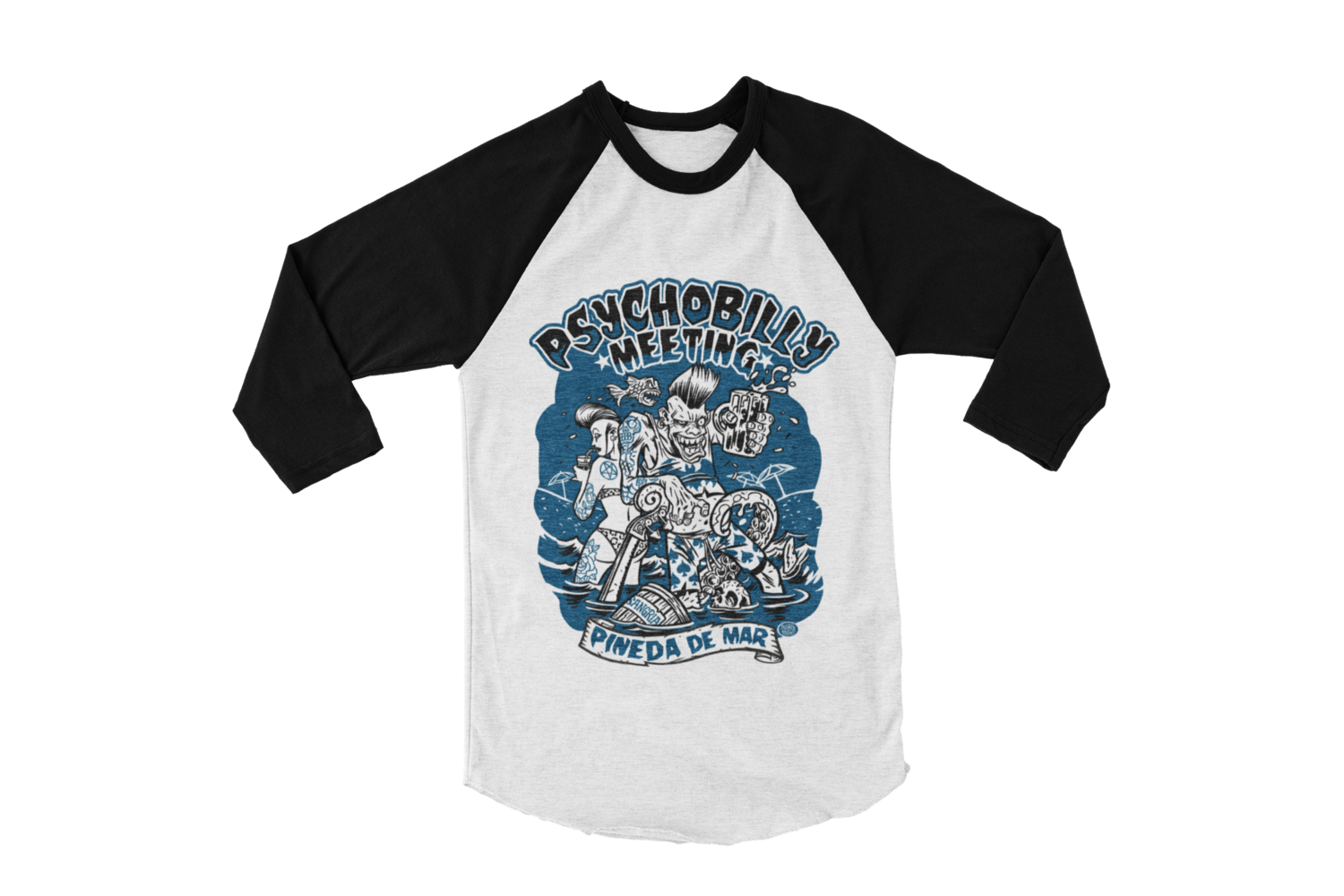 PSYCHOBILLY MEETING 2019 BASEBALL LONG SLEEVE By PASKAL UNISEX