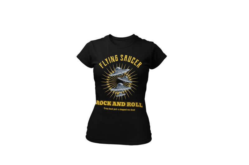 FLYING SAUCER ROCK AND ROLL T-SHIRT FOR WOMEN