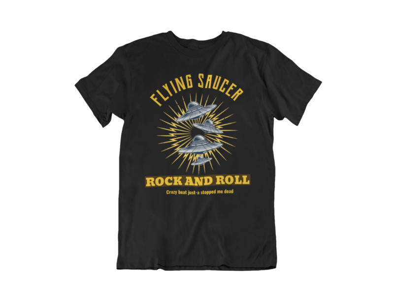 FLYING SAUCER ROCK AND ROLL T-SHIRT FOR MEN