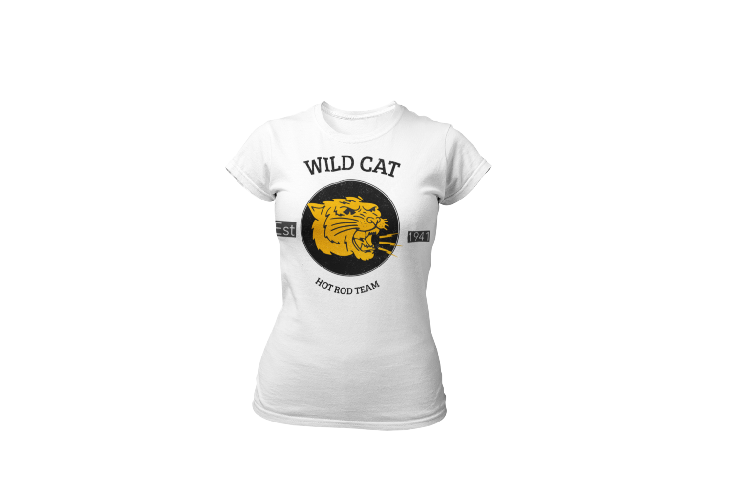 WILD CAT HOT ROD TEAM T-SHIRT FOR WOMEN