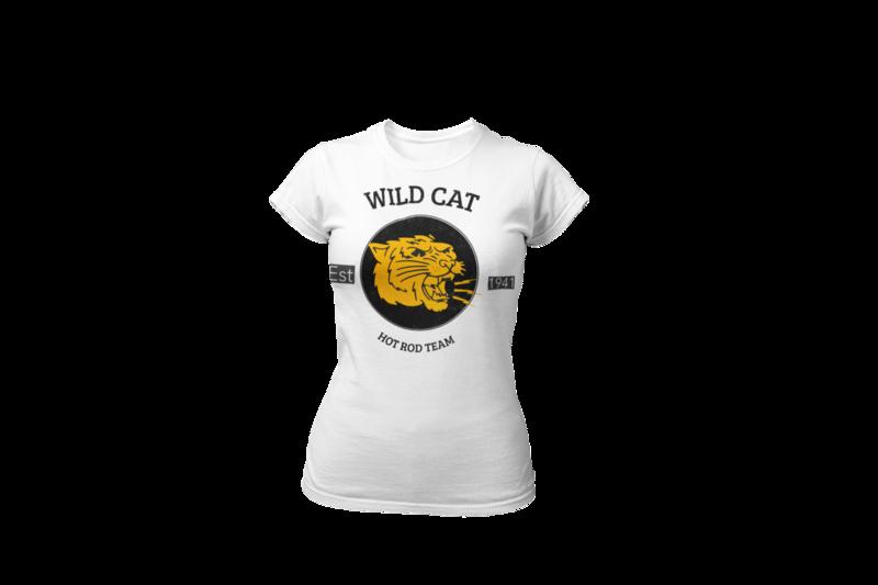 WILD CAT HOT ROD TEAM T-SHIRT FOR WOMEN