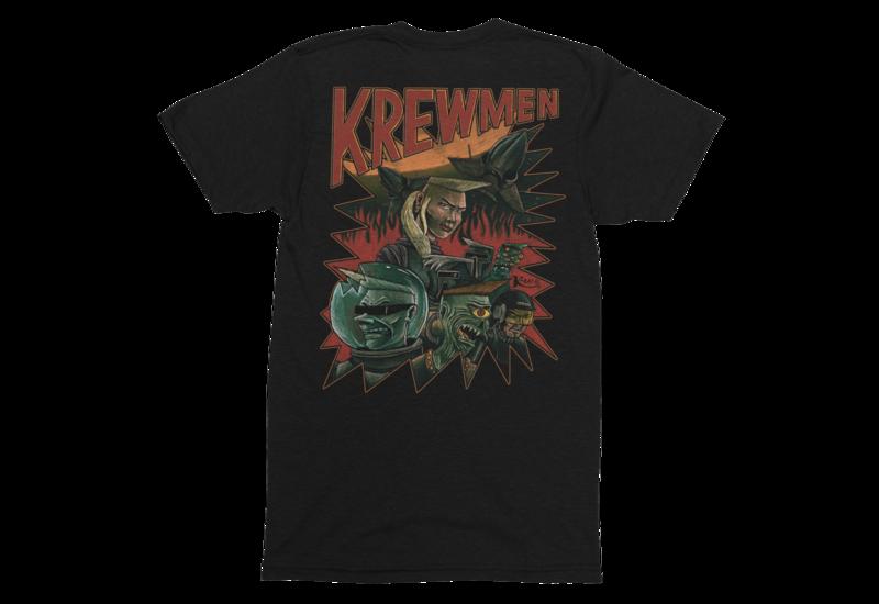 KREWMEN  tshirt for MEN by KING RAT DESIGN