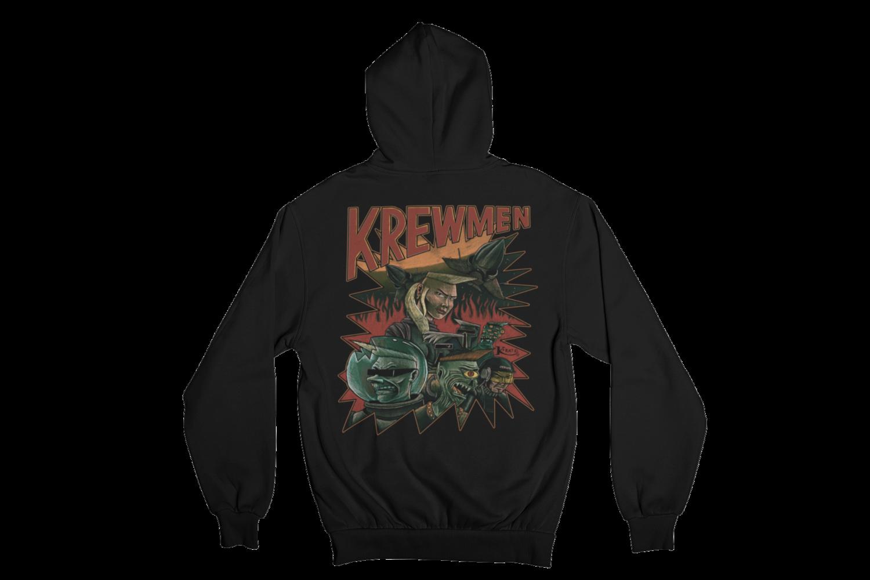 KREWMEN  HOODIE ZIP for MEN by KING RAT DESIGN