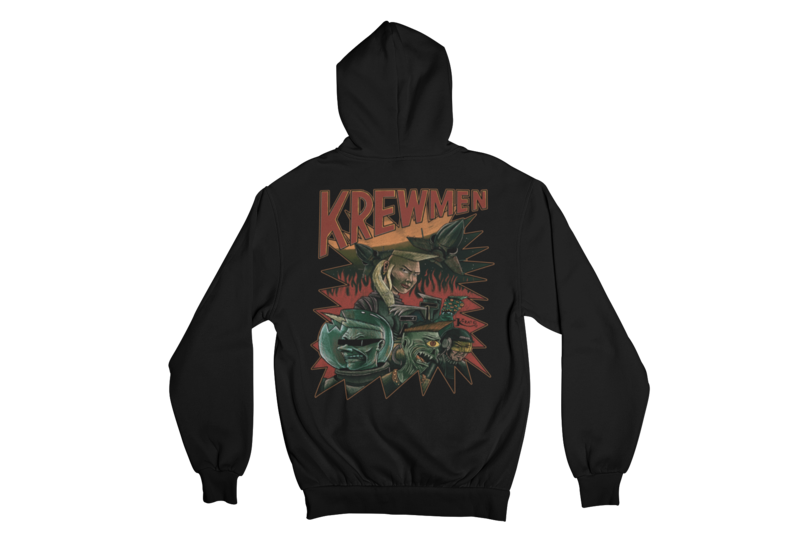 KREWMEN  HOODIE ZIP for MEN by KING RAT DESIGN
