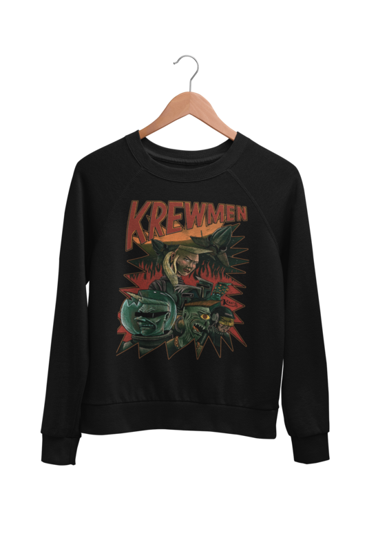 KREWMEN SWEATSHIRT by KING RAT DESIGN UNISEX