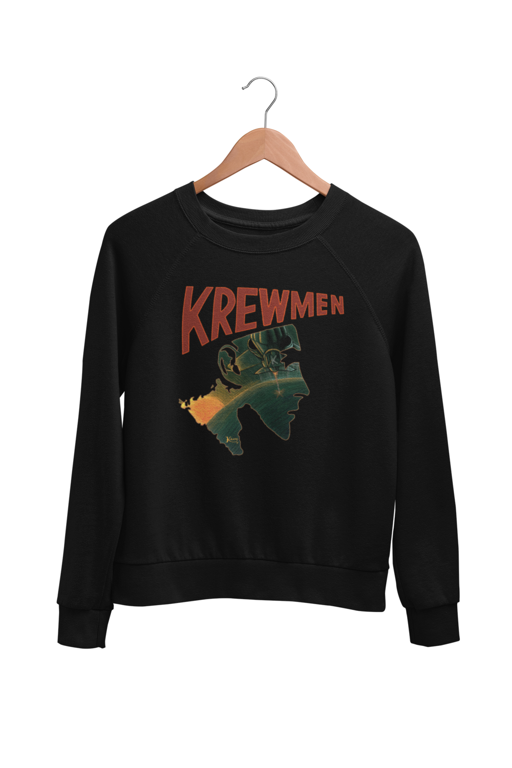 KREWMEN LOGO SWEATSHIRT by KING RAT DESIGN UNISEX