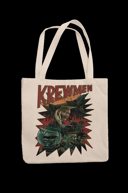 KREWMEN Cotton Bag  design KING RAT DESIGN