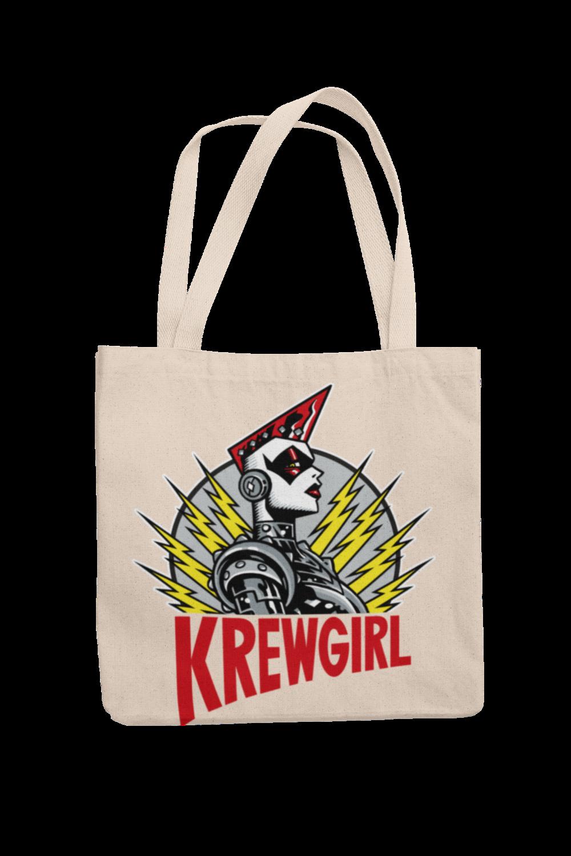 KREWGIRL LOGO Cotton Bag  logo design PASKAL