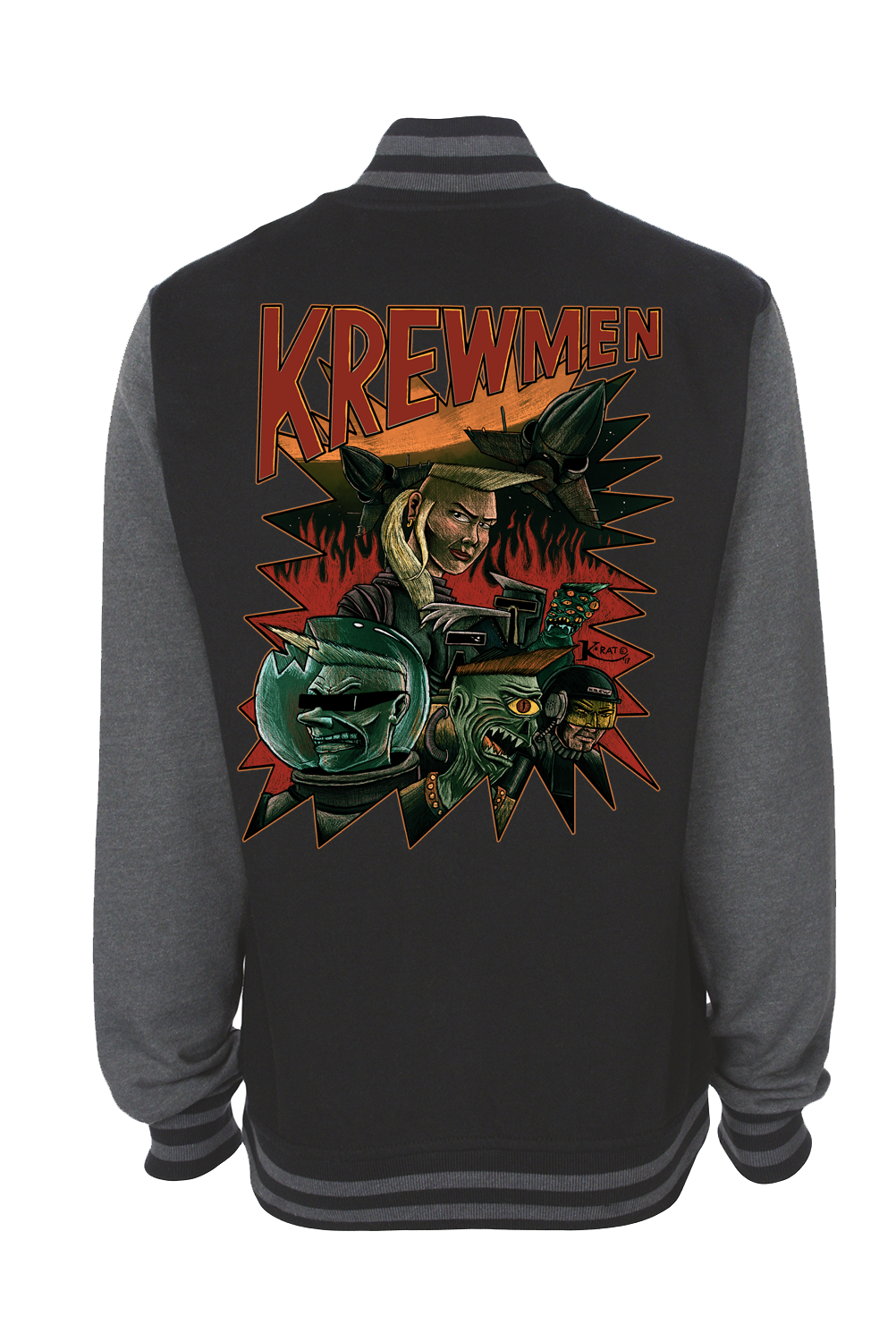 KREWMEN VARSITY JACKET UNISEX  by KING RAT DESIGN