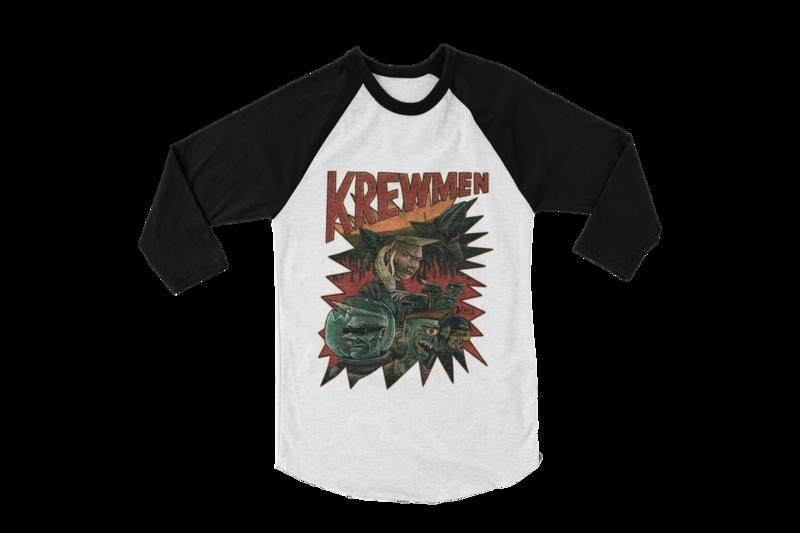 KREWMEN BASEBALL UNISEX LONG SLEEVE By KING RAT