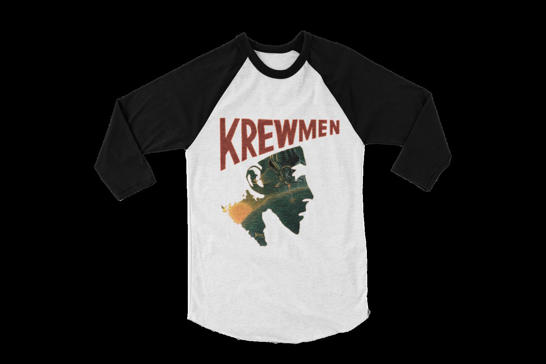 KREWMEN LOGO BASEBALL UNISEX LONG SLEEVE By KING RAT