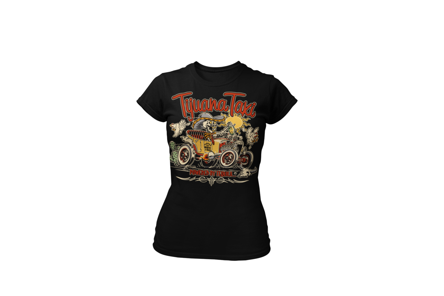 "TIJUANA TAXI T-SHIRT WOMAN by Ger ""Dutch Courage"" Peters artwork"