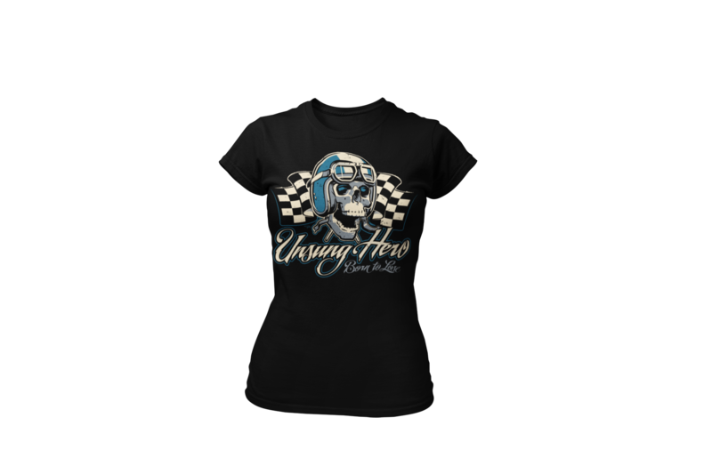 "USUNG HERO ""skull"" T-SHIRT WOMAN by Ger ""Dutch Courage"" Peters artwork"