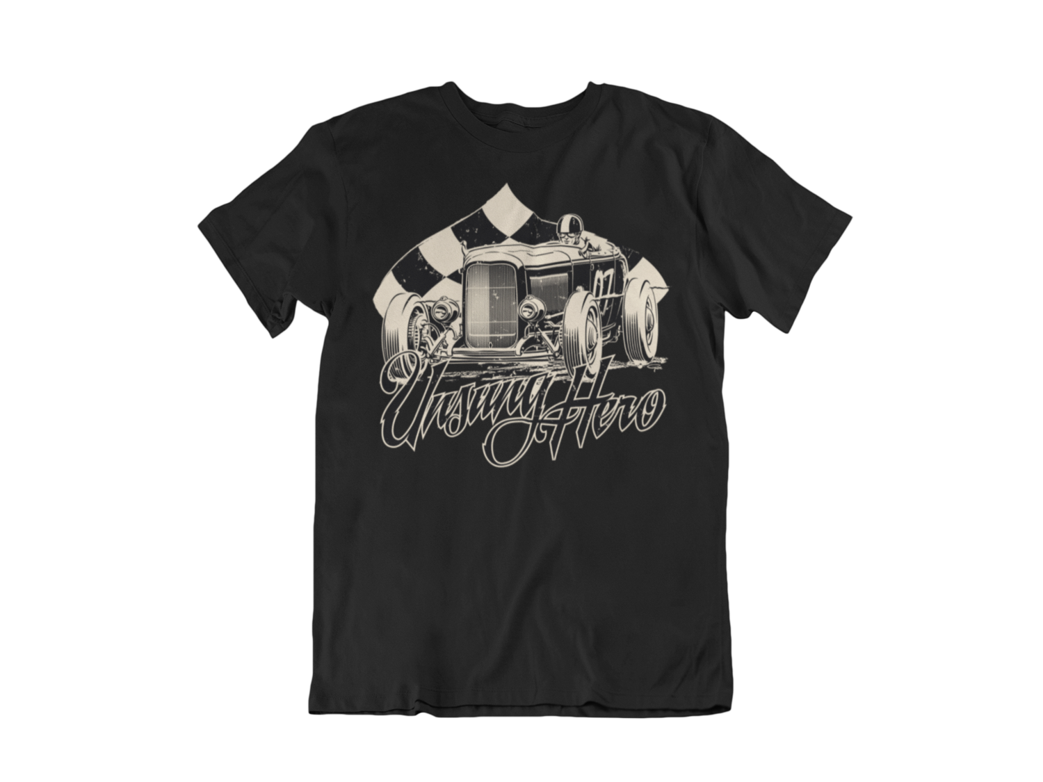"""UNSUNG HERO """"roadster"""" T-SHIRT MAN BY Ger """"Dutch Courage"""" Peters artwork"""